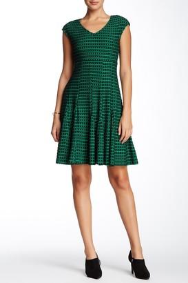 Taylor Textured Knit Cap Sleeve Dress