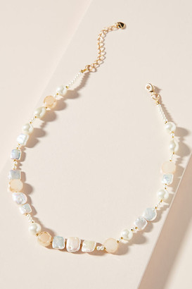 Anthropologie Perrie Pearl Necklace By in White Size ALL