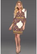 Hale Bob Peace, Love And Fashion Anouck V Neck Dress (Ivory) - Apparel