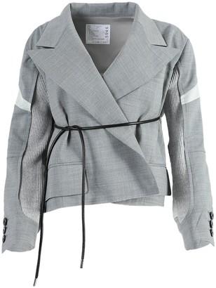 Sacai Light Grey Suiting Jacket
