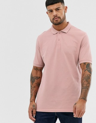 Jack and Jones Essentials slim fit polo in pink