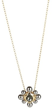 Alexis Bittar Crystal & Imitation Pearl Cluster Pendant Necklace, 16