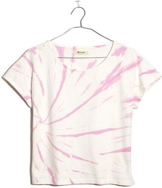 Madewell Cap Sleeve Tie Dye Boxy Organic Cotton T-Shirt