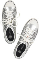 Juicy Couture Delila sequined plimsolls