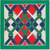 Gucci Argyle chain print silk scarf