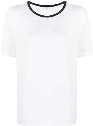 Peserico short-sleeved boxy fit T-shirt