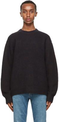 Acne Studios Navy and Brown Melange Sweater