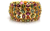 Tresor Collection - Multi Color Tourmaline And Diamond Bracelet In 18Kt Yellow Gold 481108228