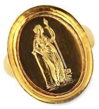 Elizabeth Locke Athena 19K Yellow Gold Ring