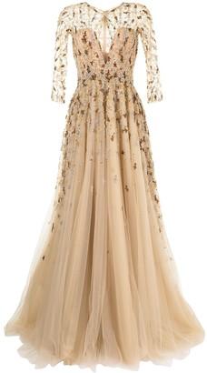 Saiid Kobeisy Bead-Embellished Gown
