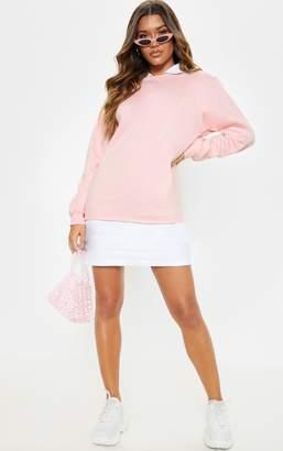 PrettyLittleThing Baby Pink Shirt Collar Jumper Dress