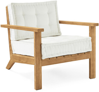 Serena & Lily Cliffside Teak Lounge Chair