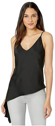 WAYF Upton Drape Hem Cami Top (Black) Women's Clothing