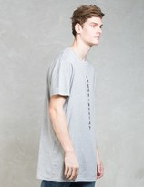 Cheap Monday Diagonal Logo Dragged Long Length T-shirt