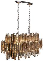 Eurofase Vienna Collection 16-Light Chrome Chandelier with Crystal Shade