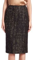 Lafayette 148 New York Metallic Tweed Pencil Skirt