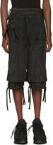 Kokon To Zai Black Embroidered Shorts
