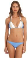 GUESS Triple Threat Triangle Bikini Top