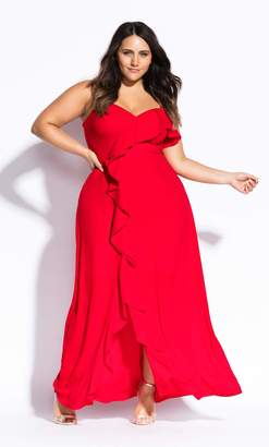 City Chic Catalina Maxi Dress in Red Size 14/X-Small