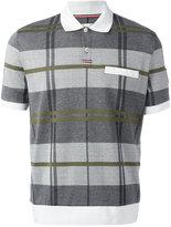 Moncler Gamme Bleu checked polo shirt - men - Cotton - XL