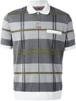 Moncler Gamme Bleu checked polo shirt