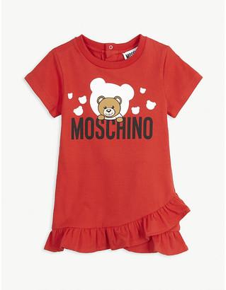 Moschino Ruffled cotton dress 3-36 months