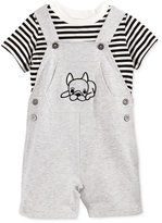 First Impressions 2-Pc. T-Shirt & Puppy Shortall Set, Baby Boys (0-24 months), Only at Macy's