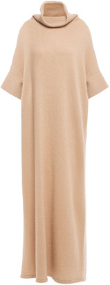 The Row Obelia Cashmere And Silk-blend Turtleneck Maxi Dress
