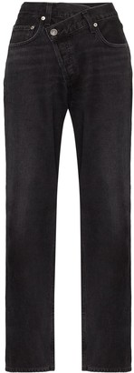 AGOLDE Criss-Cross Wide Leg Jeans
