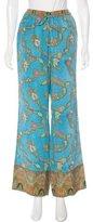 Marchesa Voyage Paisley Print Silk Pants w/ Tags