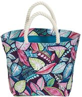 PBteen Beach Tote - Tropical Leaves Multi