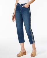 Style&Co. Style & Co Style & Co Petite Embroidered-Trim Capri Jeans, Created for Macy's