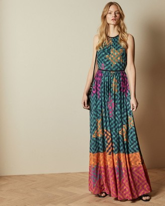 Ted Baker Pinata High Neck Midi Dress
