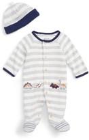 Little Me Infant Boy's Dino Footie & Hat Set