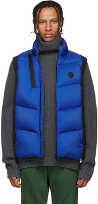 Moncler Black and Blue Down Jacot Vest