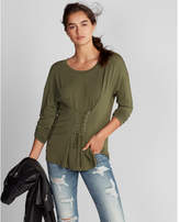 Express lace-up corset front tee
