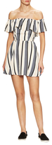 Lucca Couture Striped Off Shoulder Flared Dress