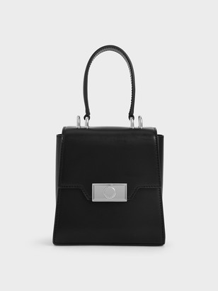 Charles & Keith Leather Trapeze Bag