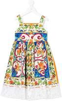 Dolce & Gabbana Majolica print dress