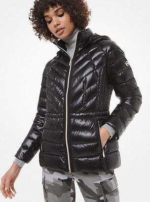 MICHAEL Michael Kors MK Quilted Nylon Packable Down Jacket - Black - Michael Kors