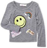 Baby Sara Infant Girls) Patch Work Long Sleeve Tee