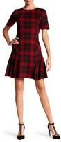 Tahari Short Sleeve Plaid Dress