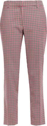 Claudie Pierlot Peter Cropped Checked Twill Straight-leg Pants