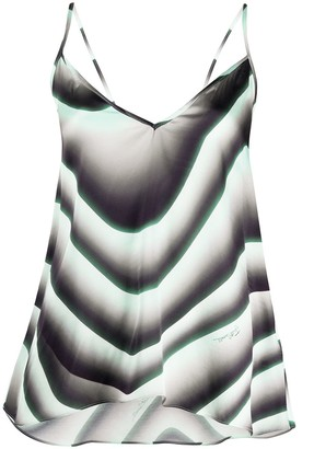 Just Cavalli Wave Print Asymmetric Top