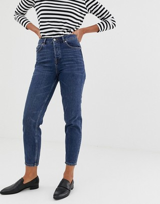 Selected mom jeans-Navy