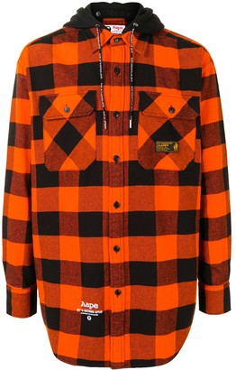 AAPE BY *A BATHING APE® Check-Pattern Long-Sleeve Shirt