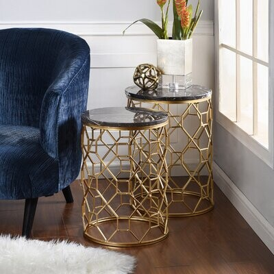 Thumbnail for your product : World Menagerie Poe 2 Piece End Table Set