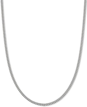"Giani Bernini Curb Link 18"" Chain Necklace in Sterling Silver, Created for Macy's"