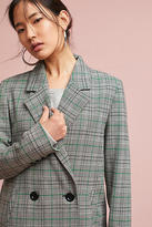 Cartonnier Plaid Long Blazer