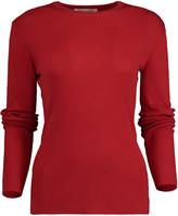 Michael Kors Crimson Featherweight Cashmere Top